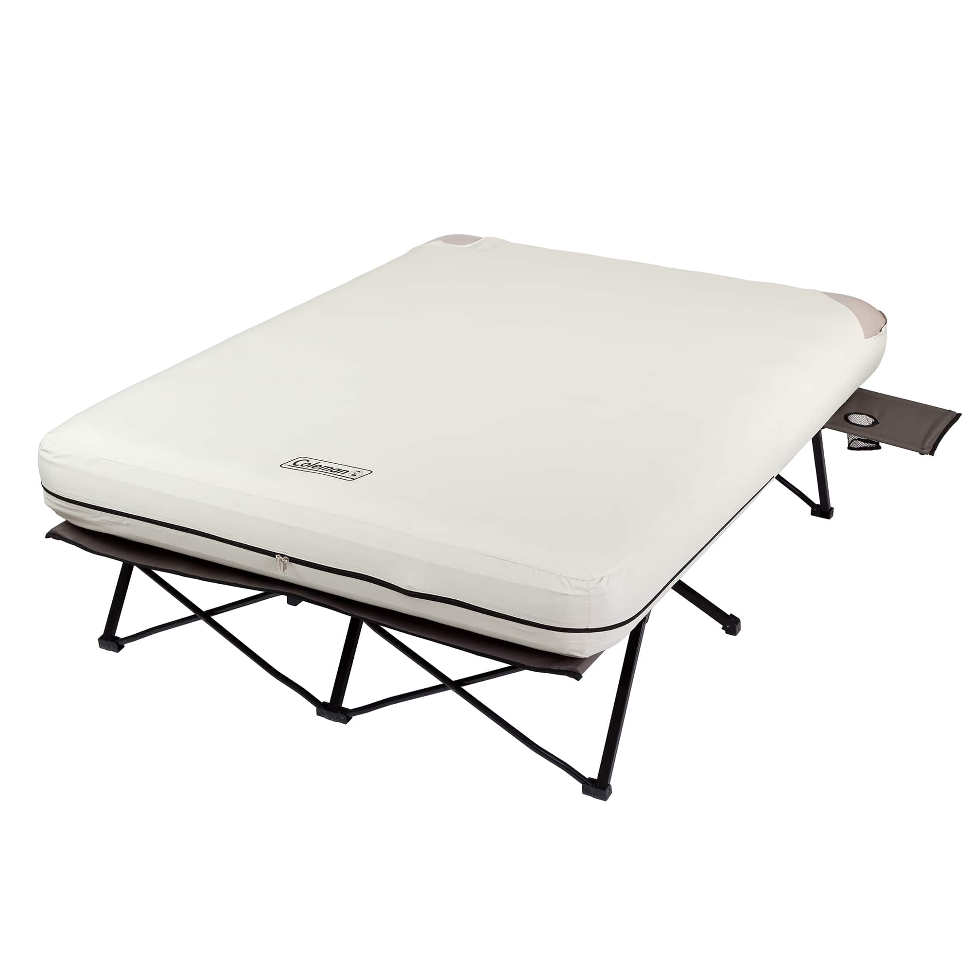 Coleman Folding Cot w/ Side Tables, Queen Airbed, and Battery Pump + Free Shipping at Amazon $93.72