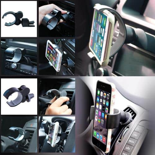 Driving Phone Mount 2-PIeces (Bundle w/ 2-in-1 CD Slot or Air Vent Car Mount Holder & Air Vent Car Mount) - $10 Shipped