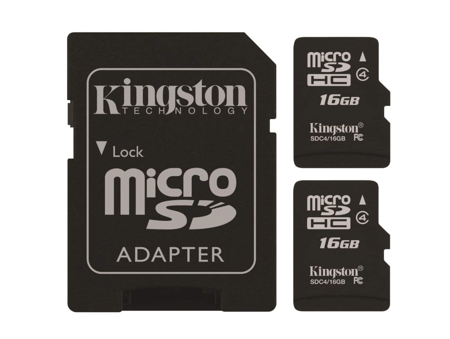 Prime Day Deal: Kingston Digital 16GB Micro SD Flash Card, Pack of 2, One Adapter with Jcase (SDC4/16GB-2P1AET) - $6.99 + Free Shipping