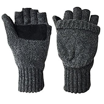 Winter Warm Wool Knitted Convertible Fingerless Gloves With Mitten Cover $6.80 + Free Shipping