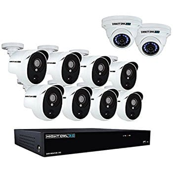 Night Owl CL-HDA30-161022P-B 16 Channel 3MP Extreme HD Video Security System with 2 TB HDD & 8x3MP Bullet Cameras, White $554