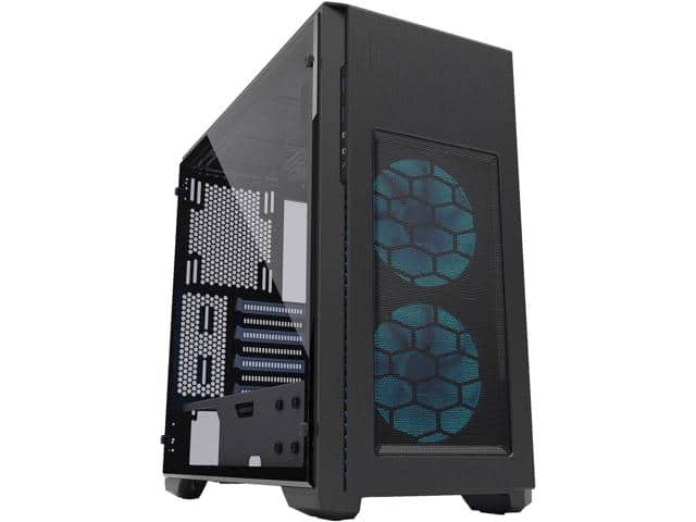 Newegg Phanteks Enthoo Pro M SE with 2 x Halos RGB Fan Frames, Integrated RGB lighting, Tempered Glass Side Panel $89.99 AR
