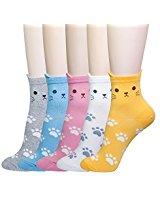 4-5 Pairs Womens Cute Animal Socks, Fun and Cool Art Socks @Amazon $6.79