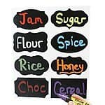 Premium Chalkboard Labels - 80 Pack - 8 Designs - Chalkboard Labels - Chalkboard Stickers - 3.5 X 2 Inches - 8 Styles X 10 Sets - Black   60% OFF $8.79 + F S from Amazon