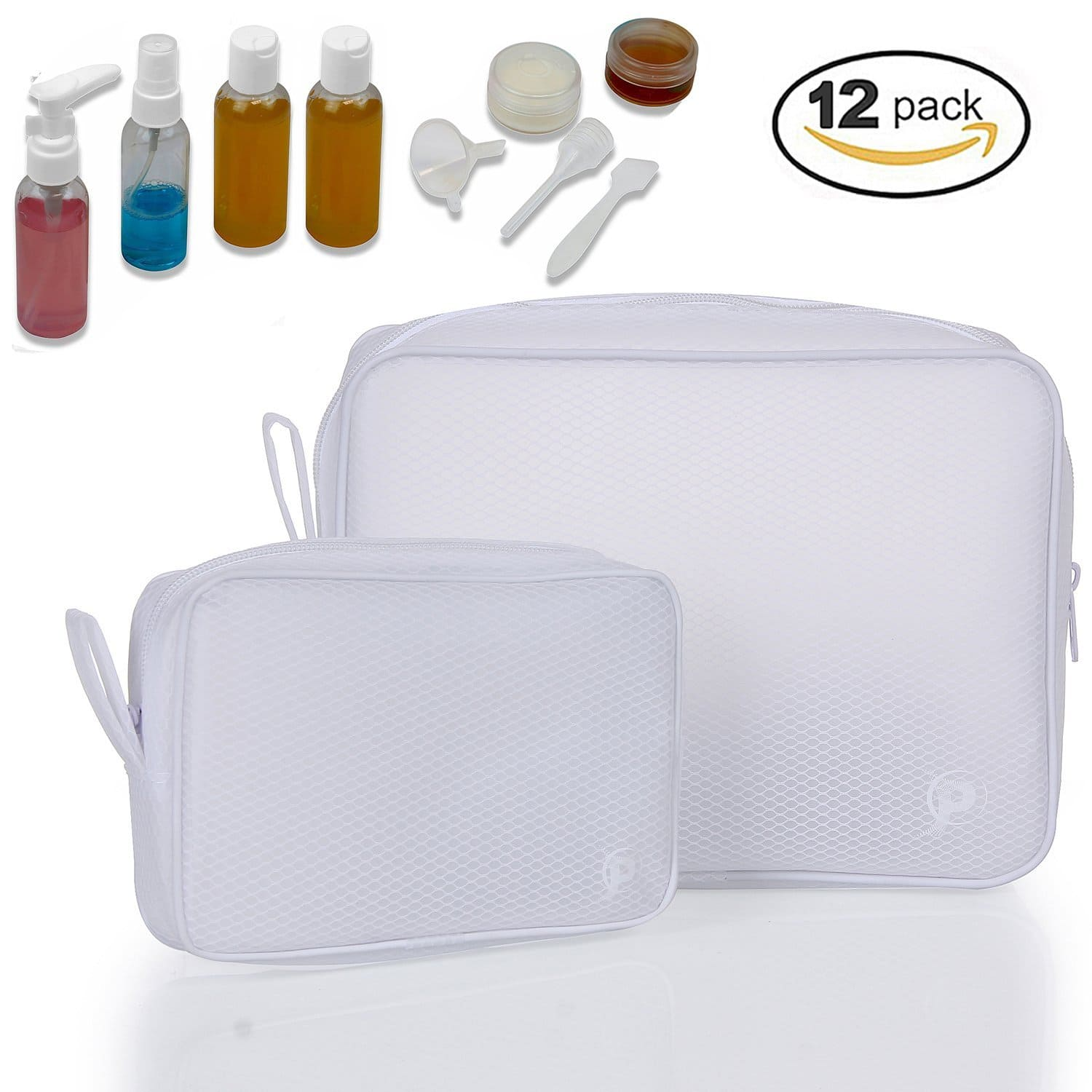 50% Off Toiletry Bags Travel Bottles Set 12pcs, only $7.6