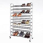 Supreme 10-Tier 50-Pair Rolling Sturdy Metal Shoes Racks $39.99 + FS @ Amazon