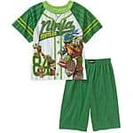 Teenage Munant Ninja Turtles Boys' License 2 Piece Sleep Short Set $4.68