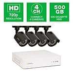 4-Channel 720p 500GB Video Surveillance System $199.00 + FS @ Home Depot