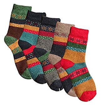Pack of 5 Womens Thick Knit Warm  Winter Socks(fits shoe size 5-10) $9.74 + FREE Shipping