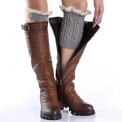 2 Pack of Womens Lace Stretch Boot Leg Cuffs Leg Warmers Socks  $4.99 + Free Shipping $4.98