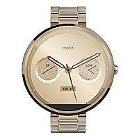 Amazon Deal: Motorola Moto 360 Smartwatch for Android - Champagne Metal - 18mm - Amazon $277.52