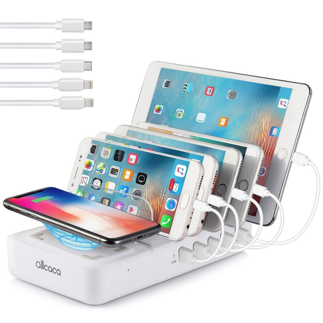 Charging station 5 USB charging Ports+ 1 Wireless Charging Pad $25.22