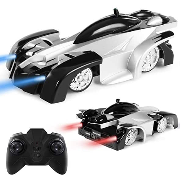Remote Control Car, Kid Toys for Boys Girls, Wall Climber Car for Kids Birthday Present with Mini Control LED Light, Dual Mode 360° Rotating Stunt Car (Black) $10.82
