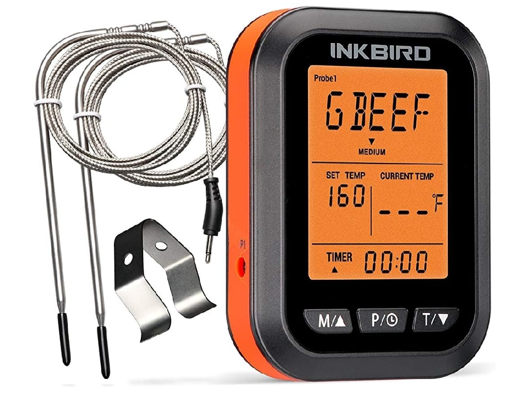 LCD -Display BBQ Thermometer with 2 Probes for Oven Smoker Grilling @Amazon @$13.99