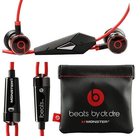 Original Beats by Dre iBeats In-Ear Headphones Earphones BLACK $29.99*