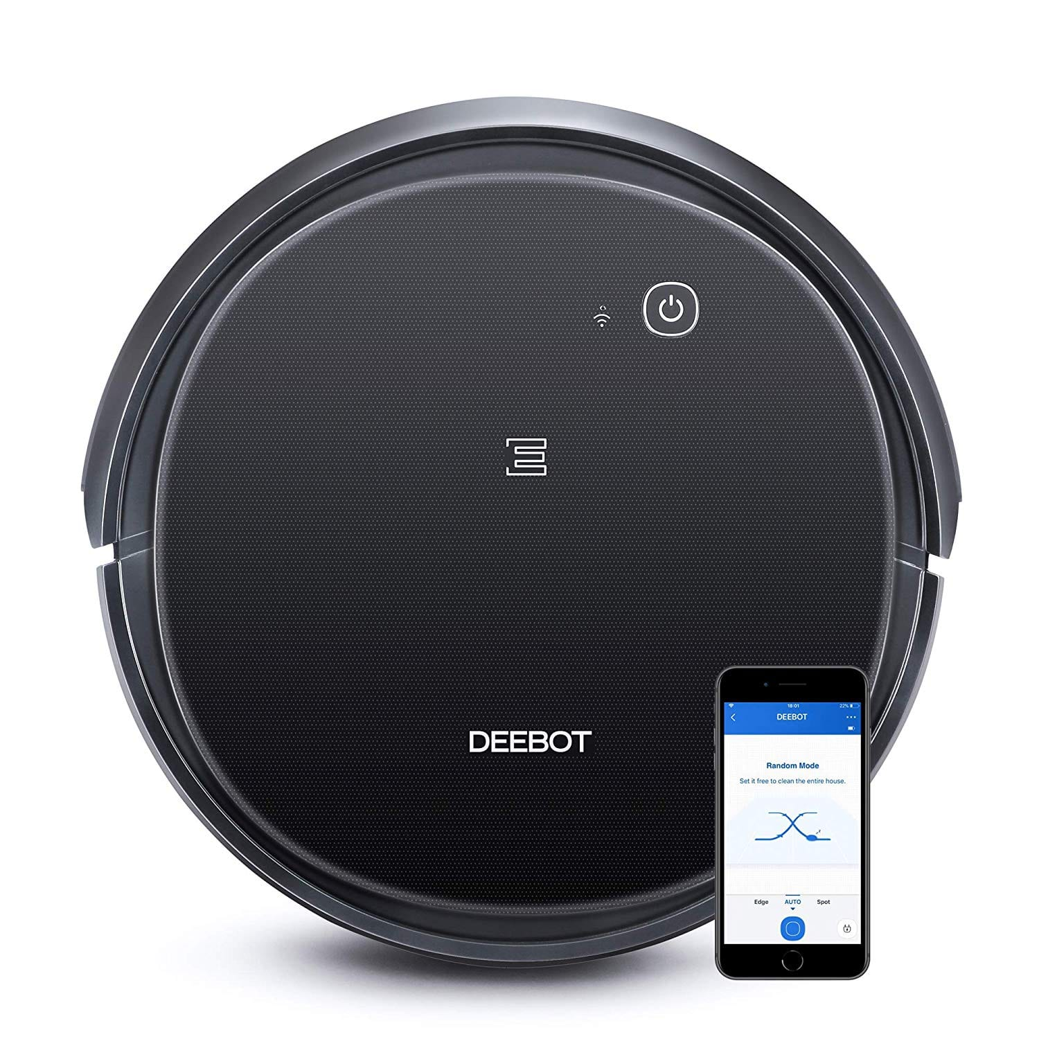 ECOVACS DEEBOT 500 Robotic Vacuum Cleaner with Max Power Suction, Up to 110 min Runtime, Hard Floors & Carpets, App Controls, Self-Charging, Quiet $189.99
