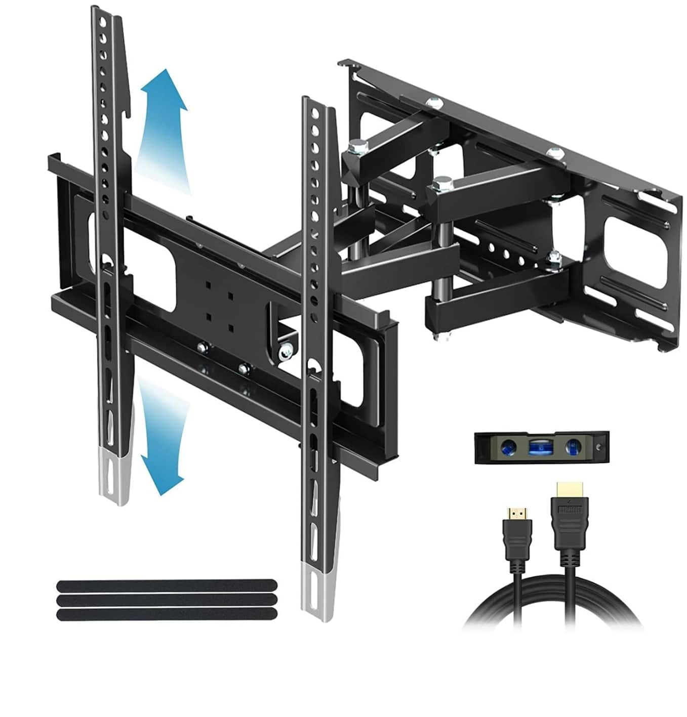 """Everstone TV Wall Mount for Most 32""""-65"""" TVs Heavy Duty Dual Arm Articulating Full Motion Tilt Swivel $19.79"""