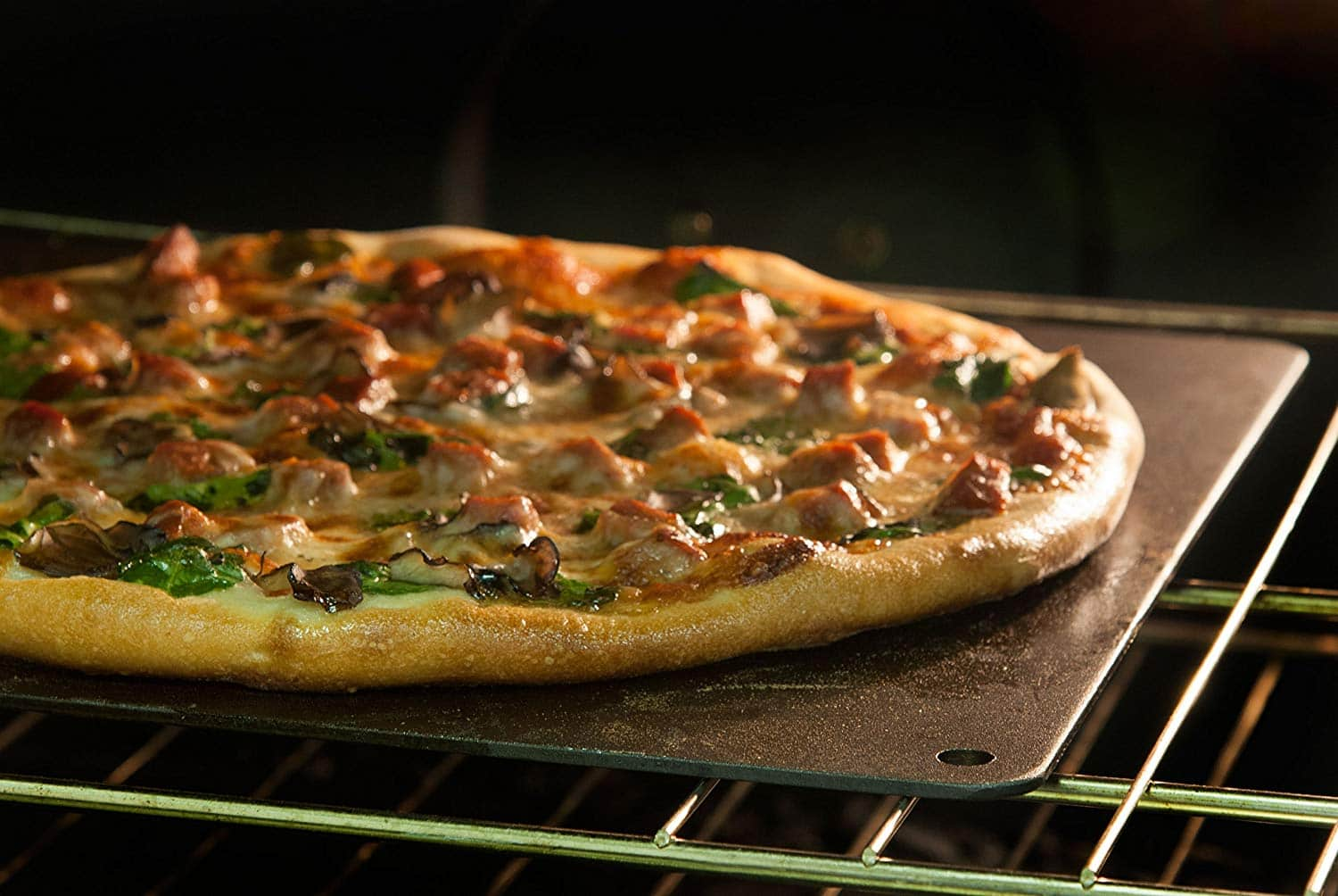 """Pizzacraft Square Steel Baking Plate for Oven Or BBQ Grill - 14"""" x 14"""" - $18.13 at Amazon"""