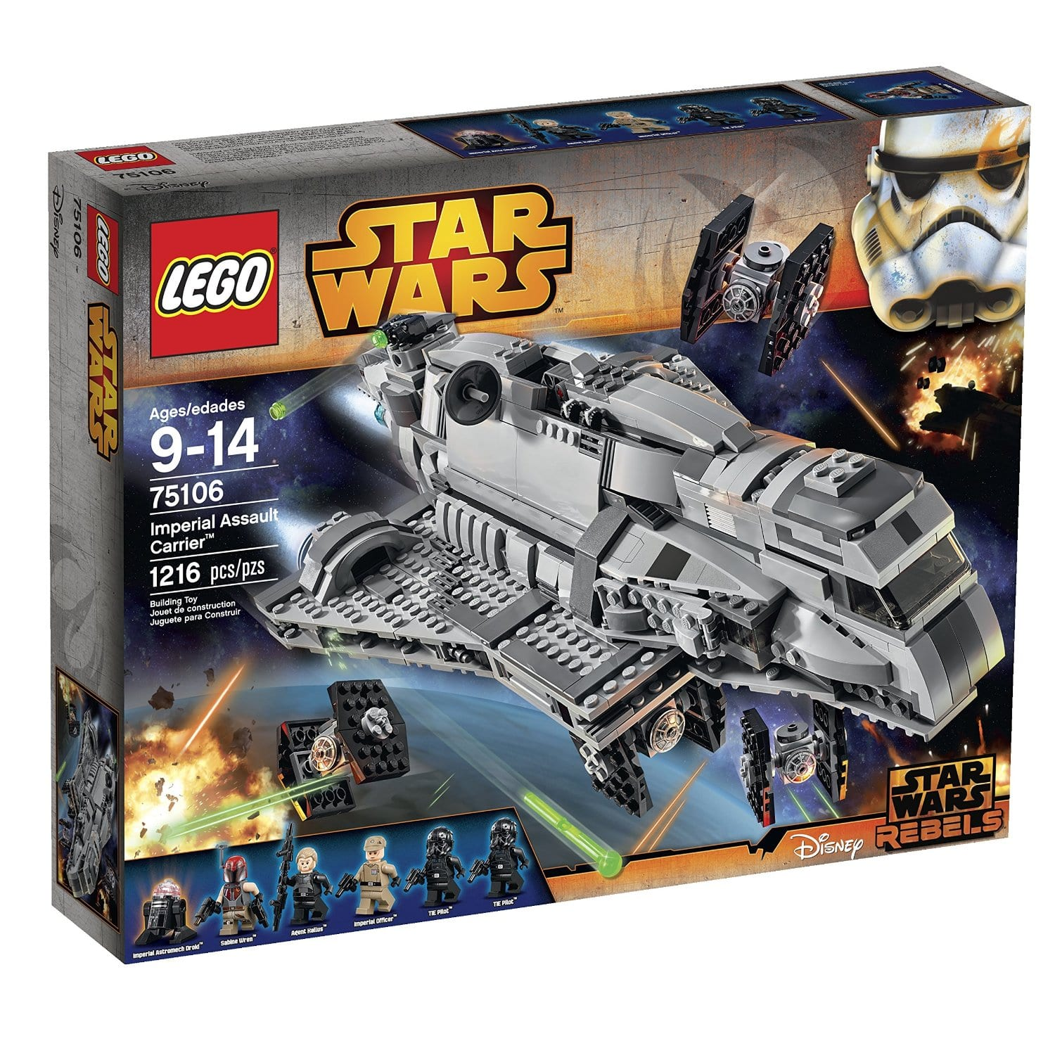 LEGO Star Wars Imperial Assault Carrier 75106 Building Kit $81.89  + FS @Amazon