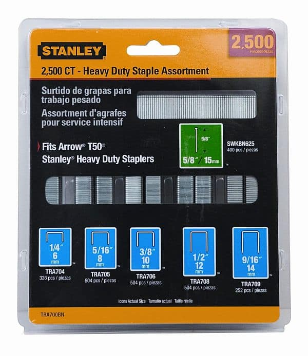 Stanley TRA700BN Heavy-Duty Staple & Brad Assortment, 2500-Pack amazon addon $2.37
