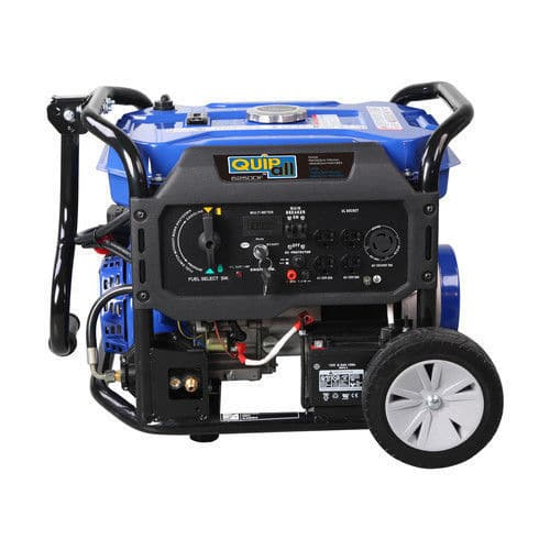 Quipall 5,250 Watt Dual Fuel Gas Portable Generator w/ Electric Start $399.99 or $339.99 w/1 day ebay coupon YMMV