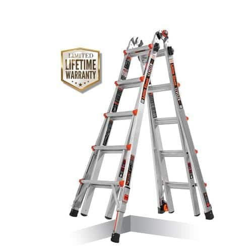 Little Giant Multi Aluminum 22-ft Reach Type 1A - 300 lbs. Capacity Telescoping Multi-Position Ladder in the Multi-Position Ladders department at Lowes.com $129
