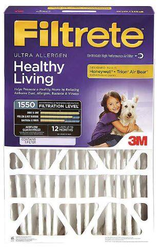 """3M Ultra Allergen Reduction Deep Pleat 4"""" Filter, 2-pack for $39.99 Costco Members"""