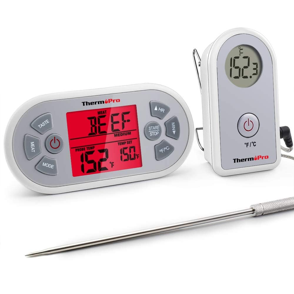 ThermoPro TP21 Digital Wireless Meat Cooking BBQ Thermometer for Grilling Smoker Oven Thermometer with 8.25'' Upgraded Super Long Probe $21.59