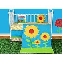 Amazon Deal: Snuggleberry Baby Sunflower Love 5 Piece Crib Bedding Set with Storybook Just $79.95