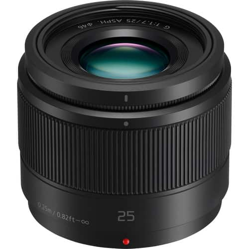 Panasonic - Lumix G 25mm f/1.7 ASPH. Lens For Micro Four Thirds $148 B&H Adorama BestBuy Amazon