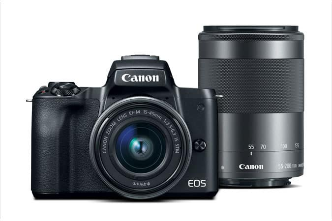 canon M50 2 lens kit refurbished $539
