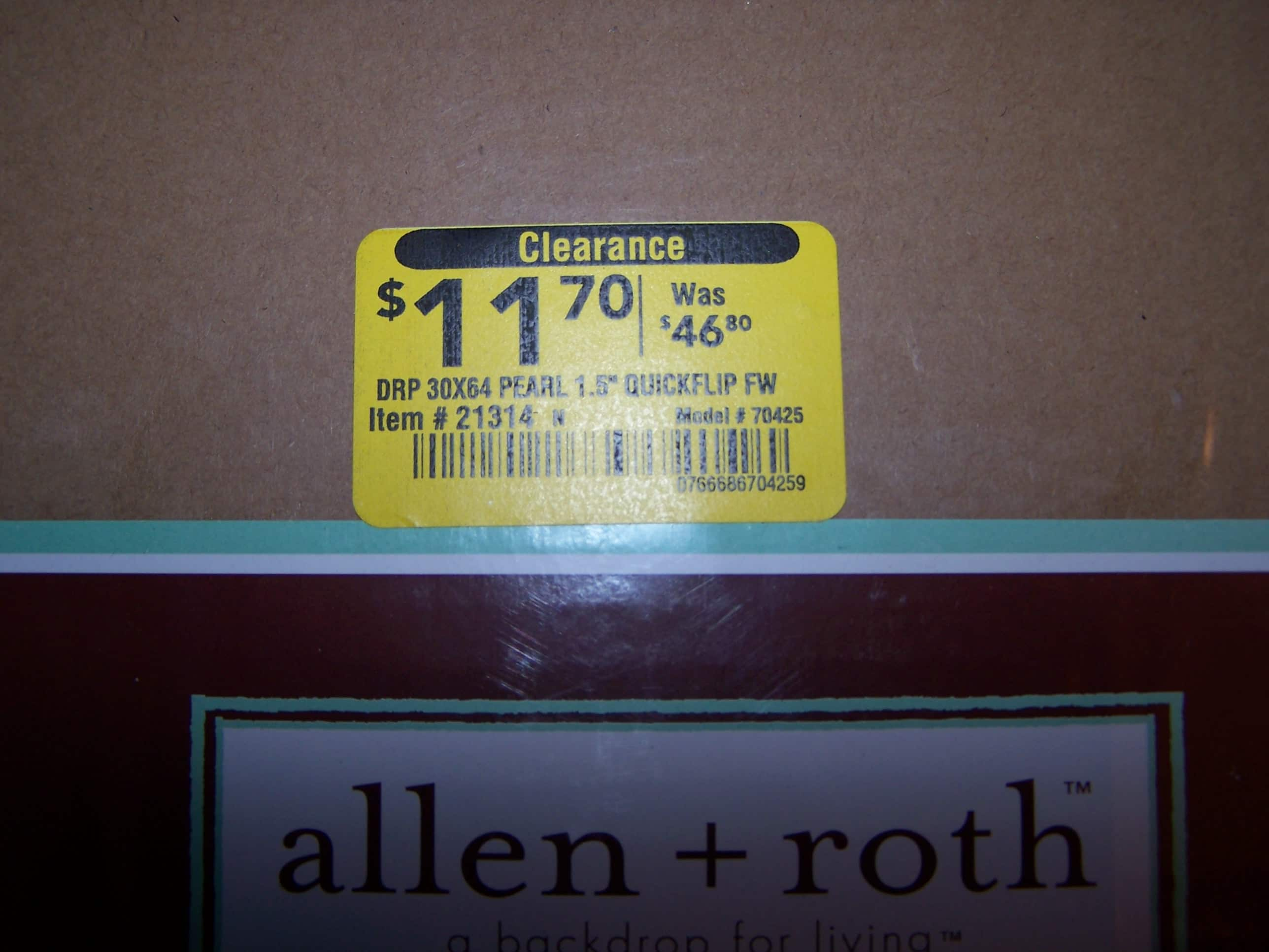 Lowes YMMV B&M Allen & Roth Blinds $11.70..orig $46 (faux wood--white and honey oak)