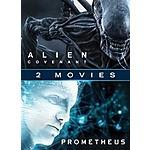 4K UHD/HDX Double Feature Films Sale: Alien: Covenant + Prometheus $10 & More