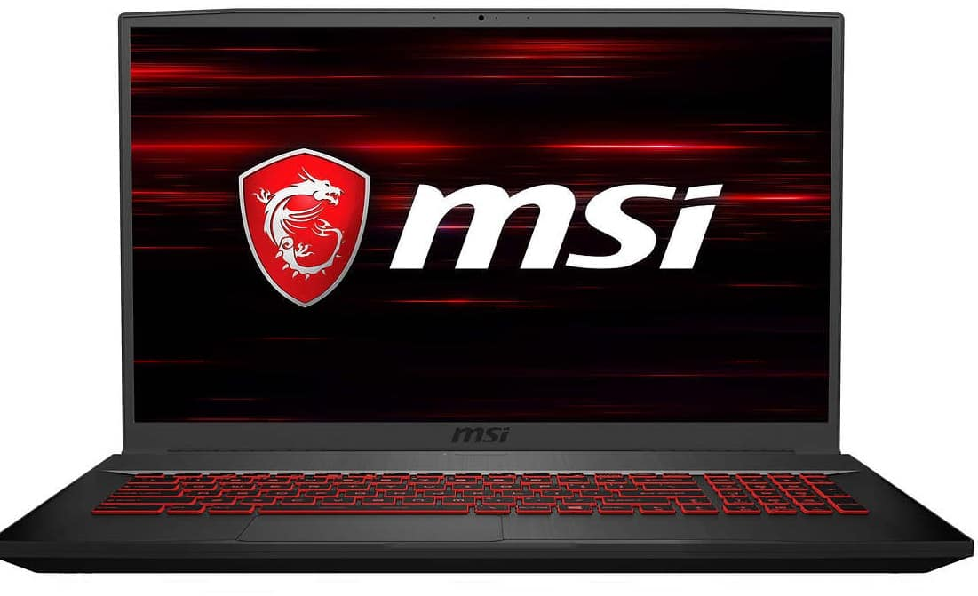 MSI GF75 Thin Gaming Laptop for $699+$9.99 Shipping - 10th Gen Intel Core i5-10300H - GeForce GTX 1650Ti - 144Hz 1080p