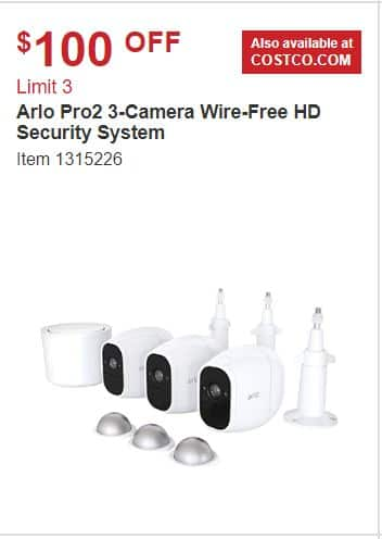Arlo Pro 2, 3 Camera System with 3 Magnetic Camera Mounts and 3