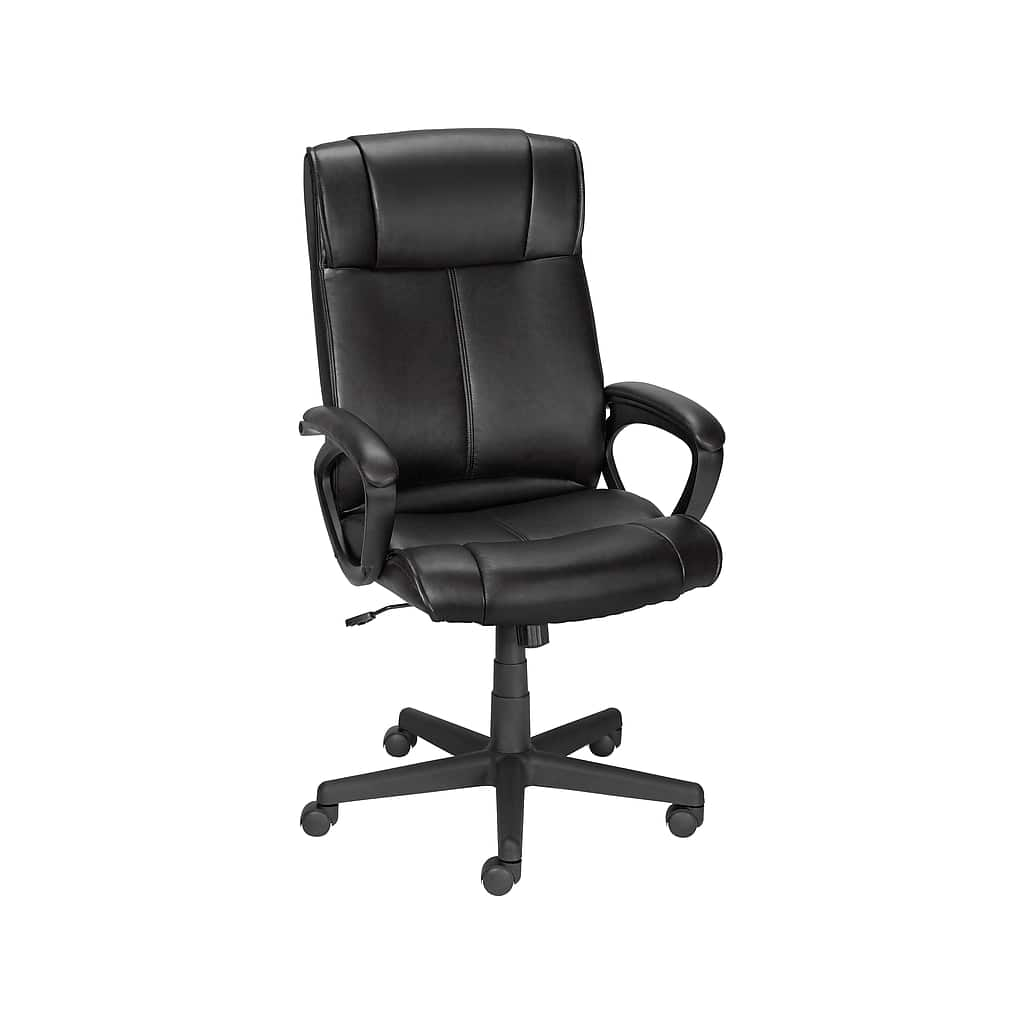 Staples Turcotte Luxura Faux Leather Computer and Desk Chair, Black (23094-CC) $79.99 . Actual price is $169
