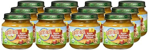 Earth's Best Organic Stage 2 Baby Food, Fruit Blends Variety Pack, 4 Ounce Jars, Pack of 12 $8.99