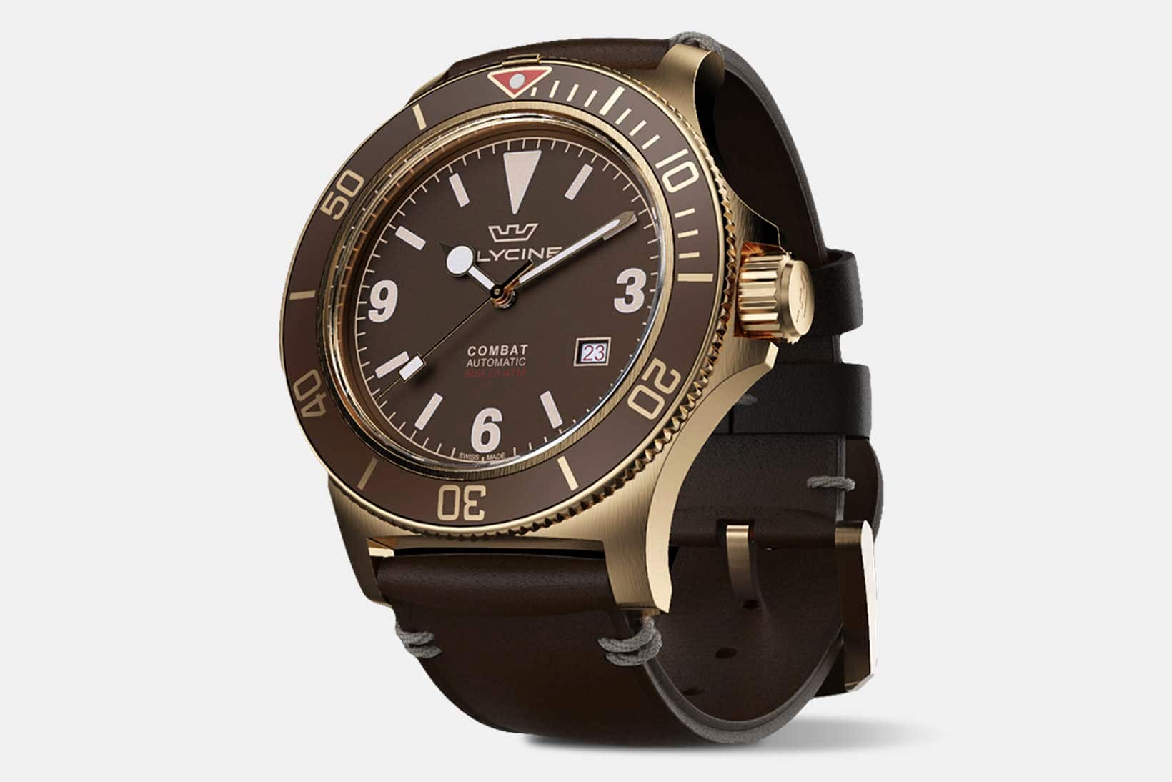 Glycine Combat Sub Bronze Automatic Watch $389 + Free Shipping