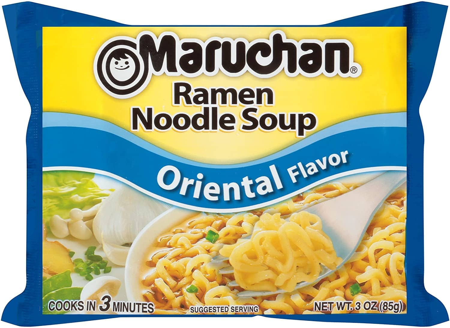 Maruchan Flavor Ramen Noodles, Soy Sauce, 3 Ounce (Pack of 24) - $6.00 - Amazon