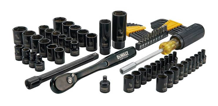 costco members: 74-pc dewalt mechanic's tool set (black chrome ...