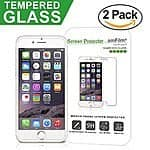 amFilm iPhone 6S Tempered Glass Screen Protector (2-Pack) for 3.95 after coupon
