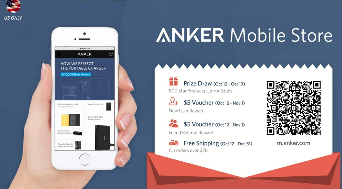 Anker $5 off for NEW USER & 25% discount promo on selected item