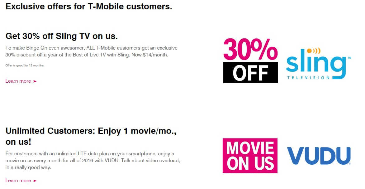 T-Mobile Free Video Streaming for Netflix, HBO, ESPN, Hulu, VUDU etc plus free movie thru Vudu every month