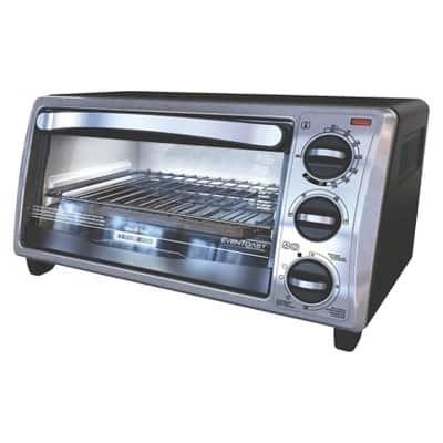 Black & Decker Black Toaster Oven - 4 Slice for $8.98 (Reg. $29.99) Target In-store clearance YMMV