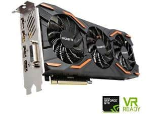 GIGABYTE GeForce GTX 1080 8GB for $489.99 @ Newegg