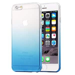 HAWEEL Ultra Slim Gradient Color Clear Soft TPU Case for iPhone 6 Plus & 6s Plus(Blue), $2