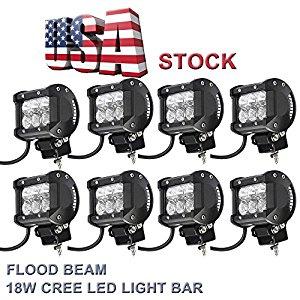 "Topcarlight 4 Pairs 8 Pcs 4"" Inches Flood Beam, $40.99"
