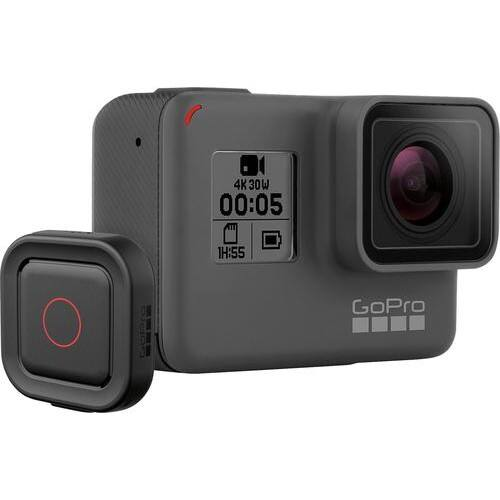 GoPro - HERO5 Black 4K Action Camera with Remote + $50 Gift card $350