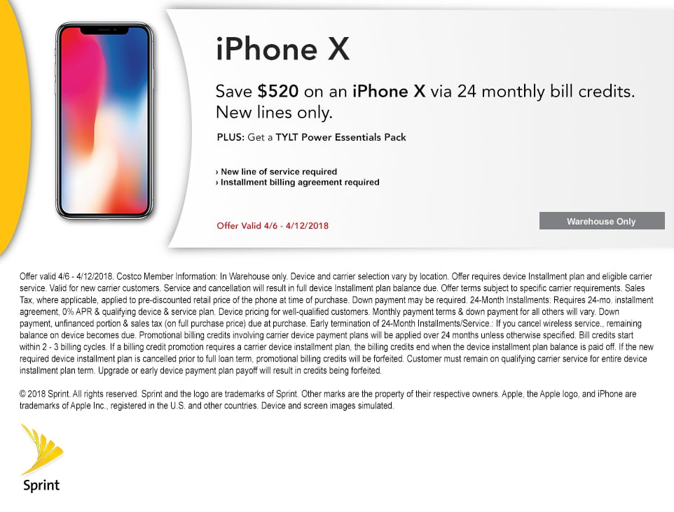 Promo or coupon code for sprint x