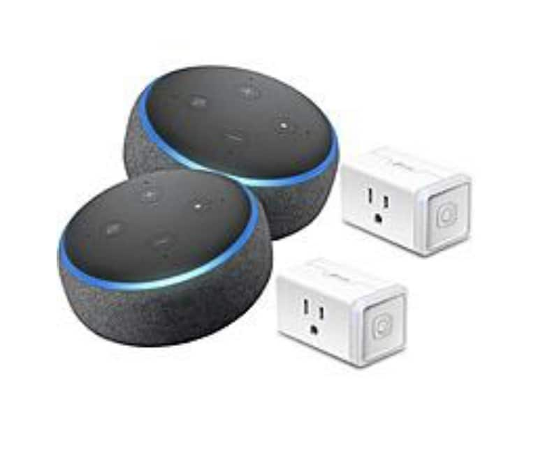 2 Count Kasa TP-Link HS105 + 3rd Gen Echo Dot $69 or 1count